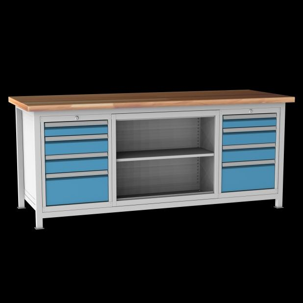 Příklady svařovaných stolů: ponk DPJ 22