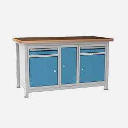 Příklady svařovaných stolů: ponk DPJ 11